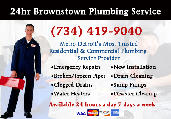 Brownstown Township Plumber Service