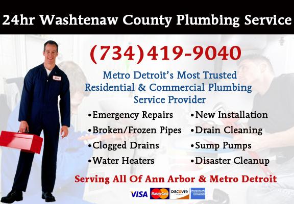 Washtenaw County Plumber Service